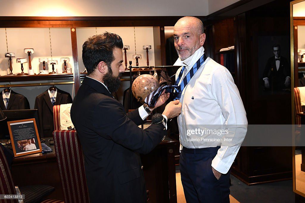 FC Internazionale New Coach Stefano Pioli Visits Brook Brothers Store