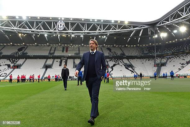 Internazionale head coach Stefano Vecchi looks on prior to the Juvenile TIM Cup final first leg match between FC Juventus and FC Internazionale on...