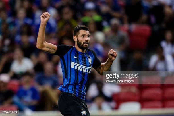 Internazionale Midfielder Antonio Candreva in action during the International Champions Cup 2017 match between FC Internazionale and Chelsea FC on...