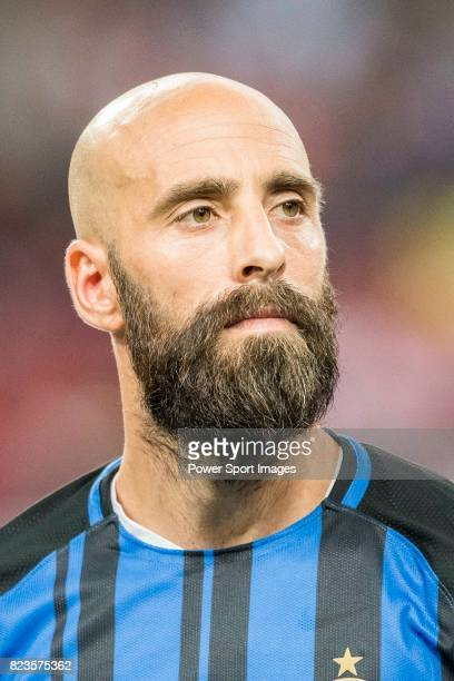 Internazionale Midfielder Borja Valero during the International Champions Cup match between FC Bayern and FC Internazionale at National Stadium on...