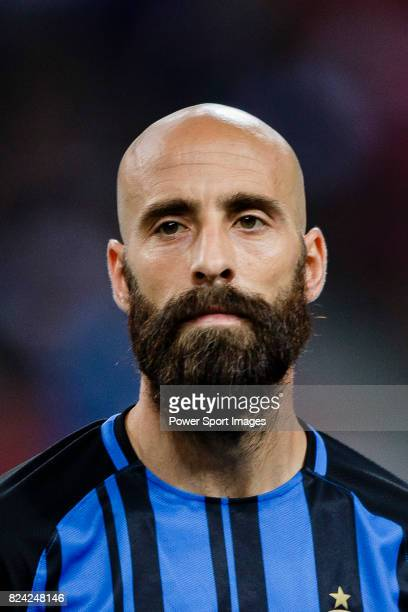 Internazionale Midfielder Borja Valero getting into the field during the International Champions Cup 2017 match between FC Internazionale and Chelsea...