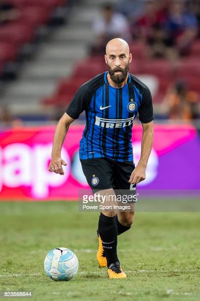 Internazionale Midfielder Borja Valero in action during the International Champions Cup match between FC Bayern and FC Internazionale at National...