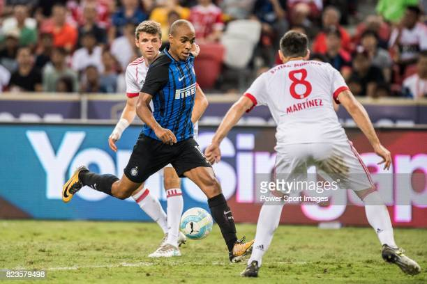 Internazionale Midfielder Joao Mario in action during the International Champions Cup match between FC Bayern and FC Internazionale at National...