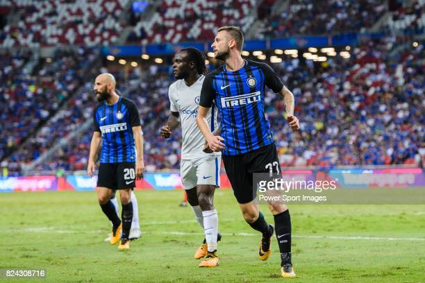 Internazionale Midfielder Marcelo Brozovic in action during the International Champions Cup 2017 match between FC Internazionale and Chelsea FC on...