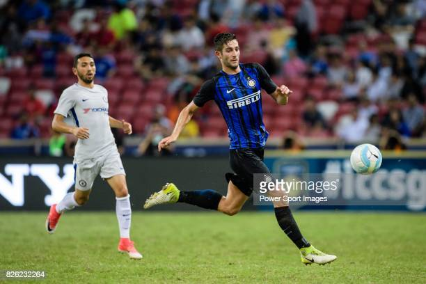 Internazionale Midfielder Roberto Gagliardini in action during the International Champions Cup 2017 match between FC Internazionale and Chelsea FC on...