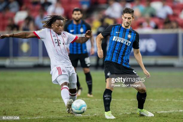 Internazionale Midfielder Roberto Gagliardini plays against Bayern Munich Midfielder Renato Sanches during the International Champions Cup match...