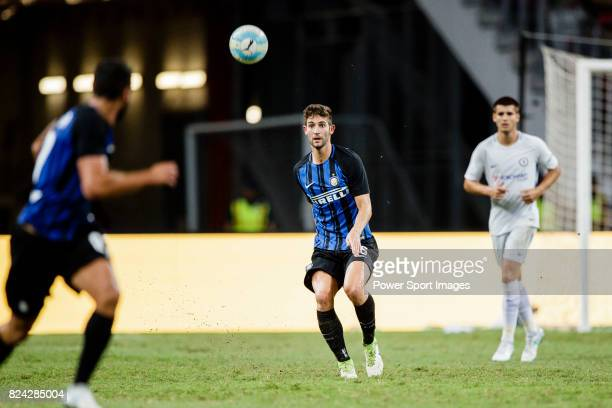 Internazionale Midfielder Roberto Gagliardini zin action during the International Champions Cup 2017 match between FC Internazionale and Chelsea FC...