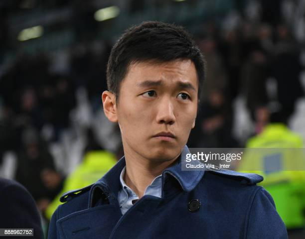 Internazionale Milano board member Steven Zhang Kangyang looks on during the Serie A match between Juventus and FC Internazionale on December 9 2017...