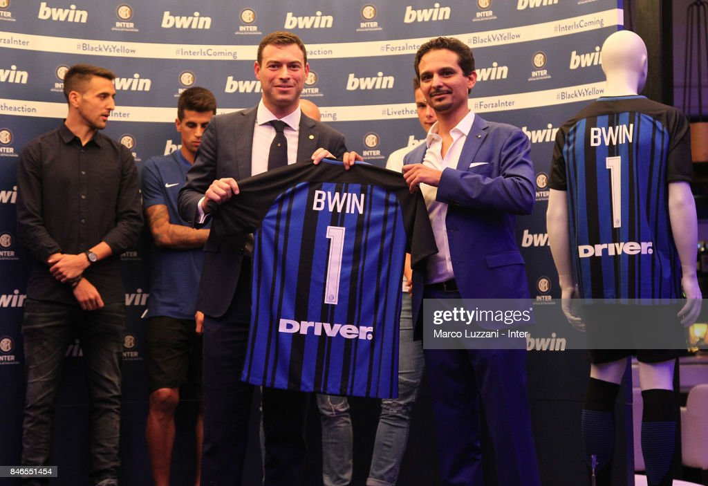 FC Internazionale Milano Chief Revenue Officer Michael Gandler and bwin Country Lead Moreno Marasco attend BWin event on September 13, 2017 in Milan, Italy.