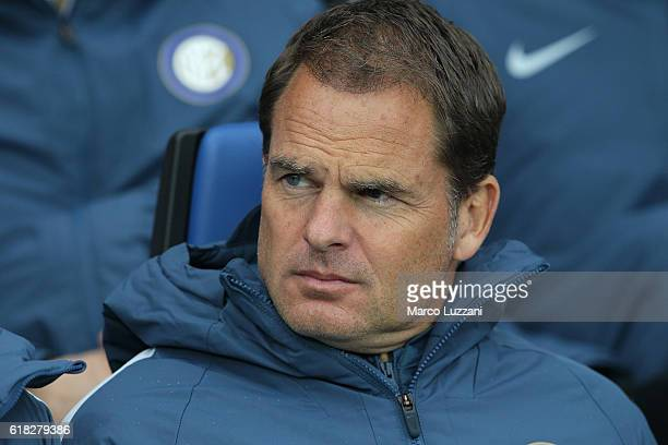 Internazionale Milano coach Frank de Boer looks on before the Serie A match between Atalanta BC and FC Internazionale at Stadio Atleti Azzurri...