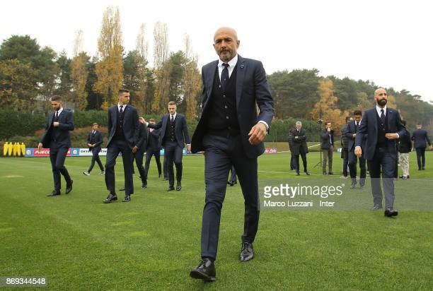 Internazionale Milano coach Luciano Spalletti back stage during the FC Internazionale Official Photoshoot at the club's training ground Suning...