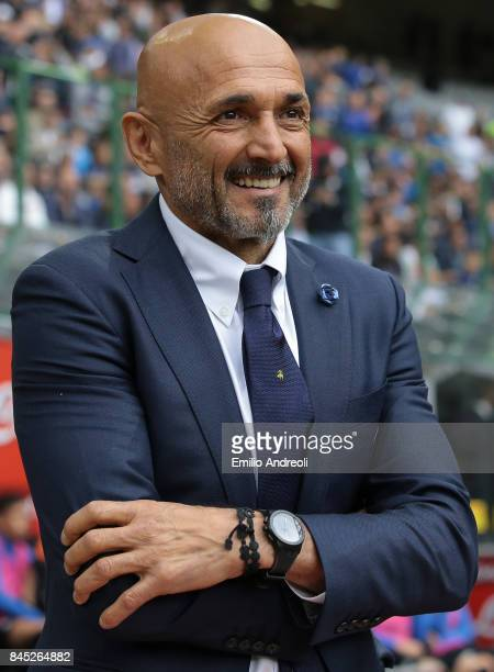 Internazionale Milano coach Luciano Spalletti smiles prior to the Serie A match between FC Internazionale and Spal at Stadio Giuseppe Meazza on...