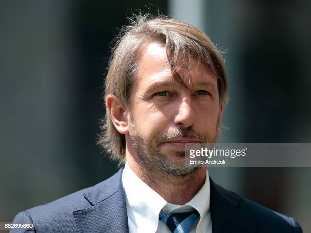 Internazionale Milano coach Stefano Vecchi looks on before the Serie A match between FC Internazionale and US Sassuolo at Stadio Giuseppe Meazza on...