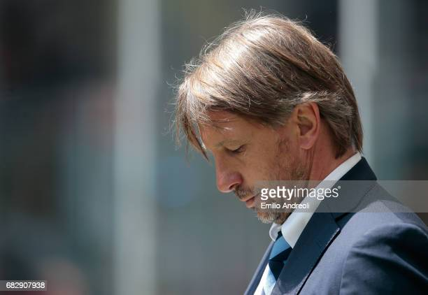 Internazionale Milano coach Stefano Vecchi shows his dejection during the Serie A match between FC Internazionale and US Sassuolo at Stadio Giuseppe...
