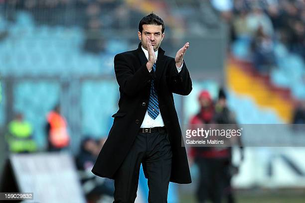 Internazionale Milano head coach Andrea Stramaccioni gestures during the Serie A match between Udinese Calcio and FC Internazionale Milan at Stadio...