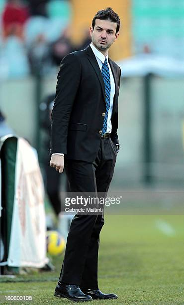 Internazionale Milano head coach Andrea Stramaccioni looks during the Serie A match between AC Siena and FC Internazionale Milano at Stadio Artemio...