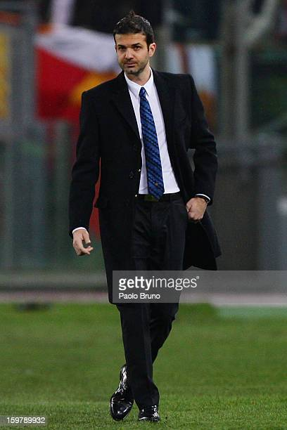 Internazionale Milano head coach Andrea Stramaccioni looks on during the Serie A match between AS Roma and FC Internazionale Milano at Stadio...