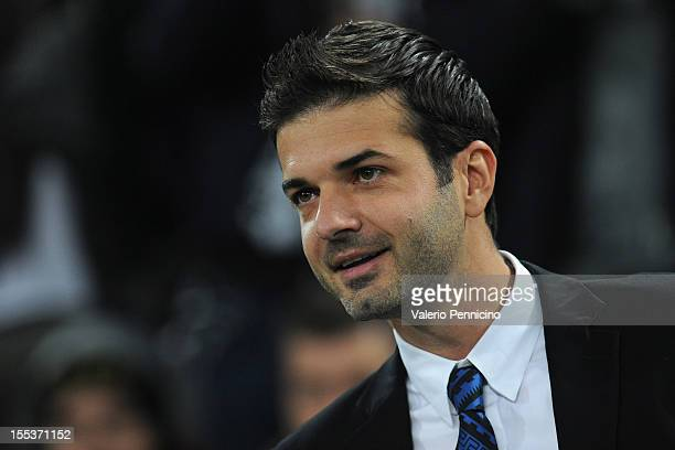 Internazionale Milano head coach Andrea Stramaccioni looks on prior to the Serie A match between Juventus FC and FC Internazionale Milano at Juventus...
