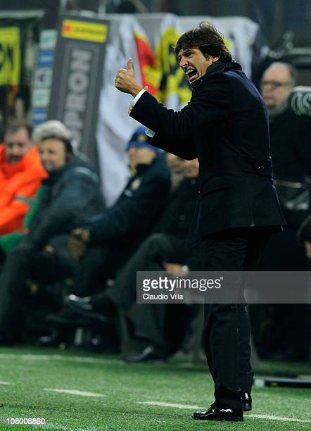 Internazionale Milano head coach Leonardo during the Tim Cup match between Inter and Genoa at Stadio Giuseppe Meazza on January 12 2011 in Milan Italy