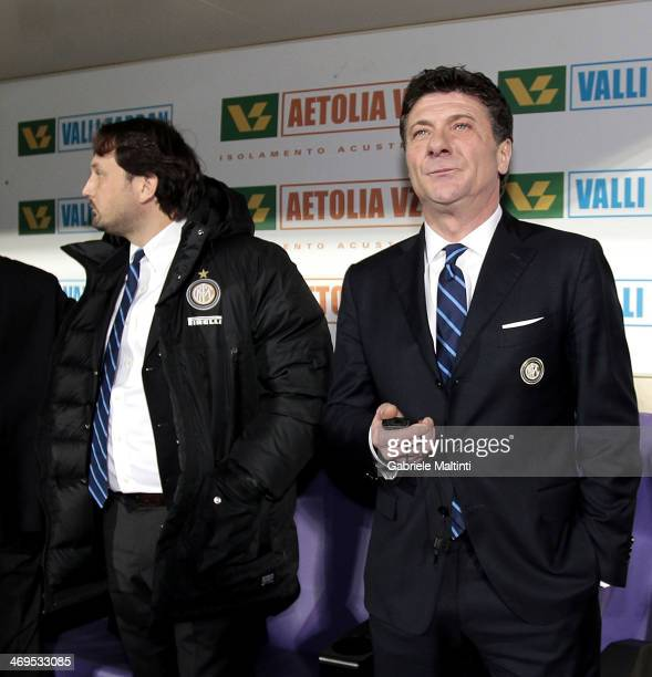 Internazionale Milano head coach Walter Mazzarri looks on during the Serie A match between ACF Fiorentina and FC Internazionale Milano at Stadio...