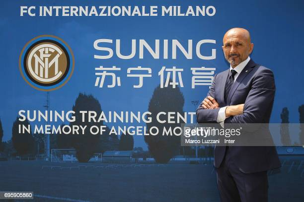 Internazionale Milano new coach Luciano Spalletti at the Suning training center in memory of Angelo Moratti on June 14 2017 in Como Italy