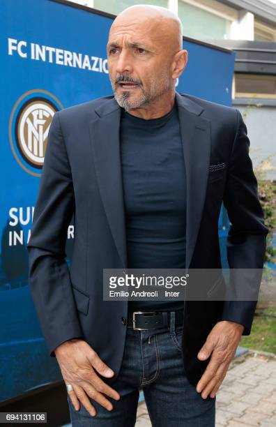 Internazionale Milano new coach Luciano Spalletti attends at the club's training ground Suning Training Center in memory of Angelo Moratti on June 9...