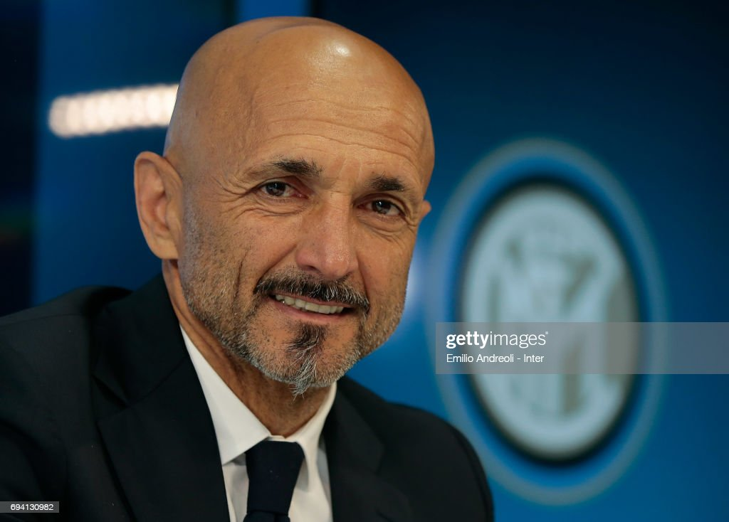 FC Internazionale Milano new coach Luciano Spalletti looks on after signing his contract at the Suning Training Center in memory of Angelo Moratti on June 9, 2017 in Como, Italy.