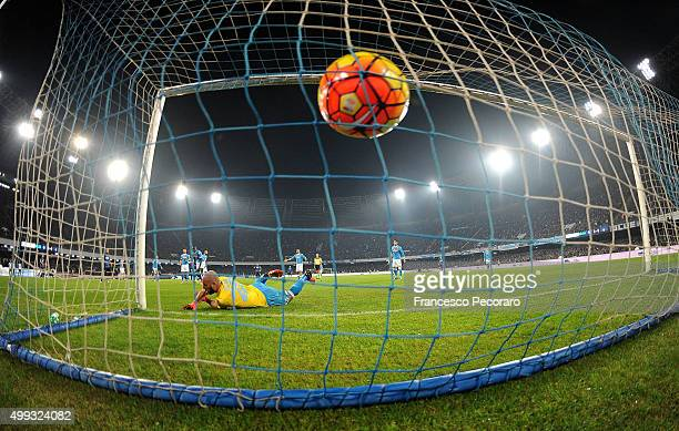 Internazionale Milano's player Adem Ljajic scores the goal of 21 during the Serie A match between SSC Napoli and FC Internazionale Milano at Stadio...