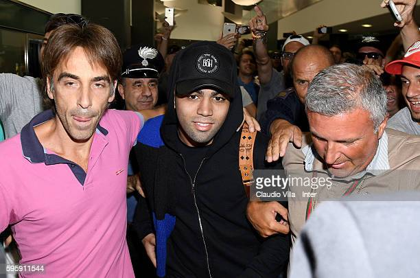 Internazionale new signing Gabriel Barbosa Almeida arrives in Milan on August 26 2016 in Milan Italy