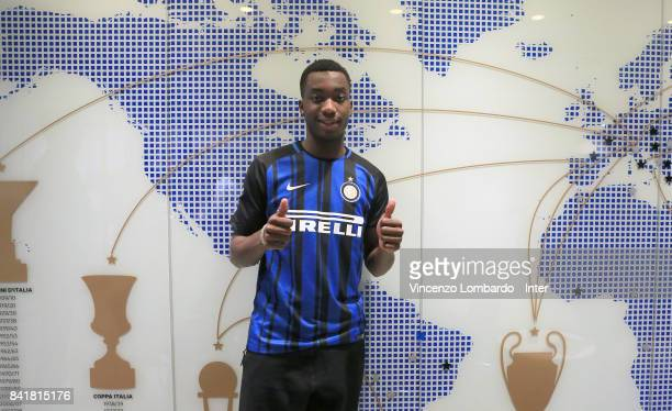 Internazionale New Signing Yann Karamoh poses on August 31 2017 in Milan Italy