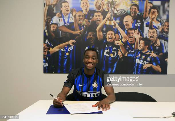 Internazionale New Signing Yann Karamoh signs the contract on August 31 2017 in Milan Italy