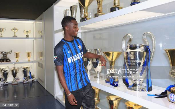 Internazionale New Signing Yann Karamoh visists club's headquarters on August 31 2017 in Milan Italy