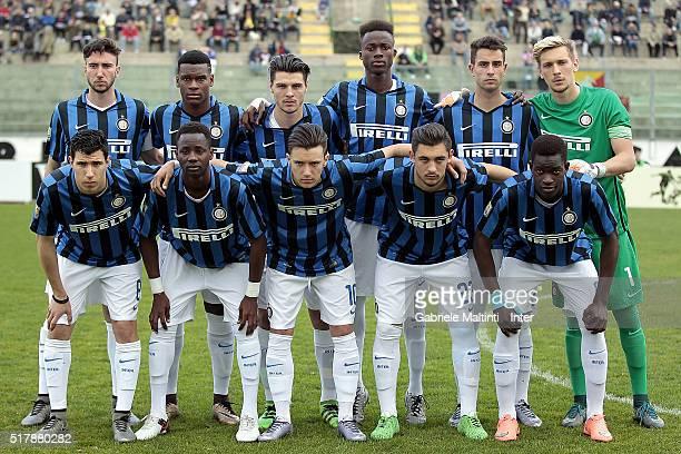 Internazionale poses prior to the Viareggio Juvenile Tournament match between FC Internazionale and US Citta di Palermo on March 28 2016 in Viareggio...