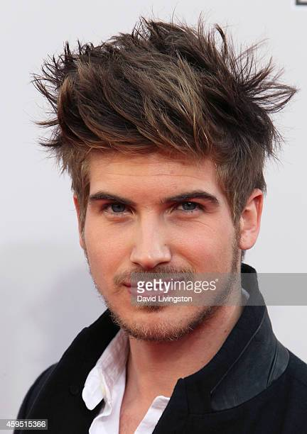 Internet and TV personality Joey Graceffa attends the 42nd Annual American Music Awards at the Nokia Theatre LA Live on November 23 2014 in Los...