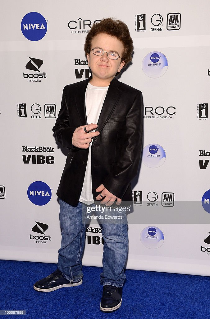 Internet celebrity Keenan Cahill arrives at the Interscope Records Official American Music Awards After Party at The Redbury Hotel on November 18...