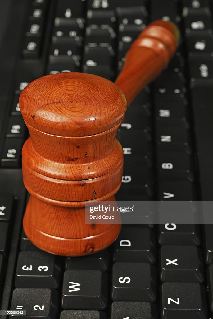 Internet, computers and the law : Stock Photo