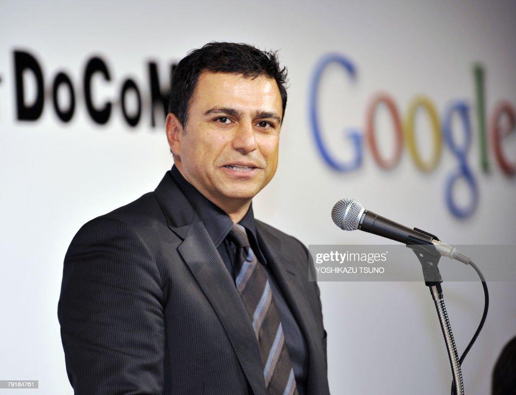 US Internet giant Google senior vice president Omid Kordestani announces Google and Japanese mobile communication giant NTT DoCoMo partnership which...