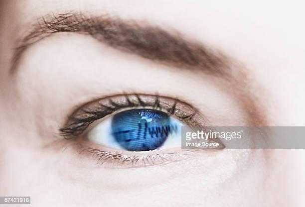 Internet in female eye