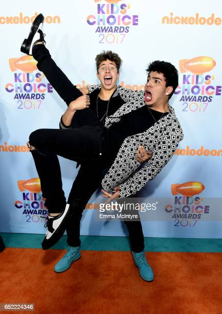 Internet personalities Juanpa Zurita and Sebastián Villalobos at Nickelodeon's 2017 Kids' Choice Awards at USC Galen Center on March 11 2017 in Los...