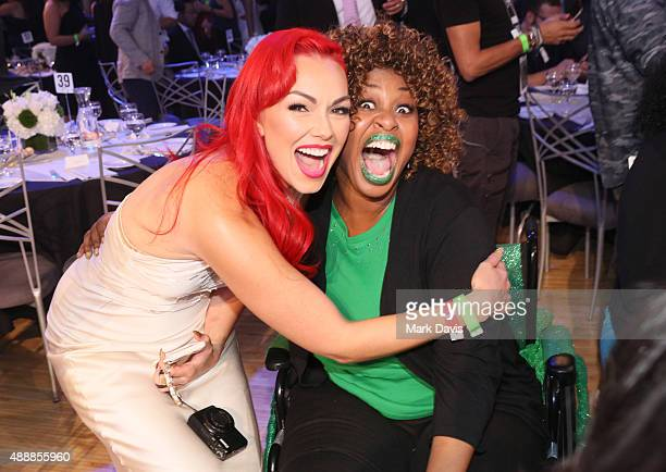 Internet personalities Kandee Johnson and GloZell attend VH1's 5th Annual Streamy Awards at the Hollywood Palladium on Thursday September 17 2015 in...