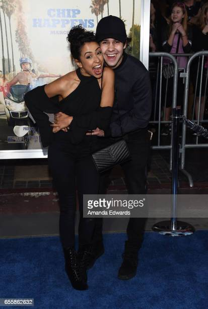 Internet personalities Liza Koshy and David Dobrik arrive at the premiere of Warner Bros Pictures' 'CHiPS' at the TCL Chinese Theatre on March 20...