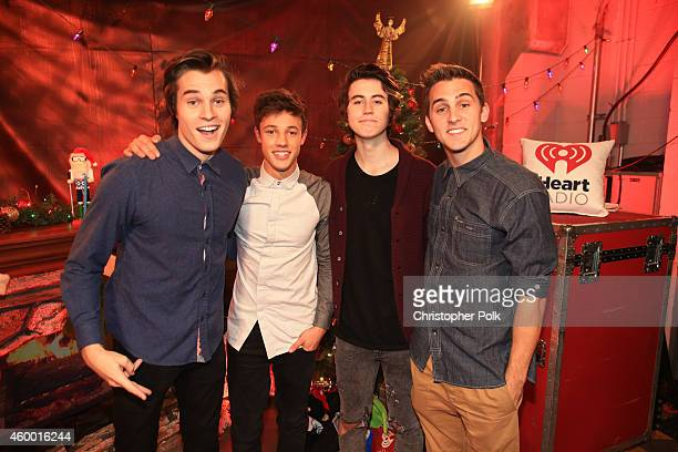 Internet personalities Marcus Johns Cameron Dallas Nash Grier and Cody Johns attend KIIS FM's Jingle Ball 2014 powered by LINE at Staples Center on...