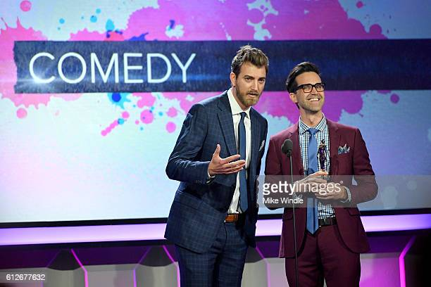 Internet personalities Rhett McLaughlin and Charles Lincoln 'Link' Neal aka Rhett and Neal accept the Comedy award for 'Good Mythical Morning'...