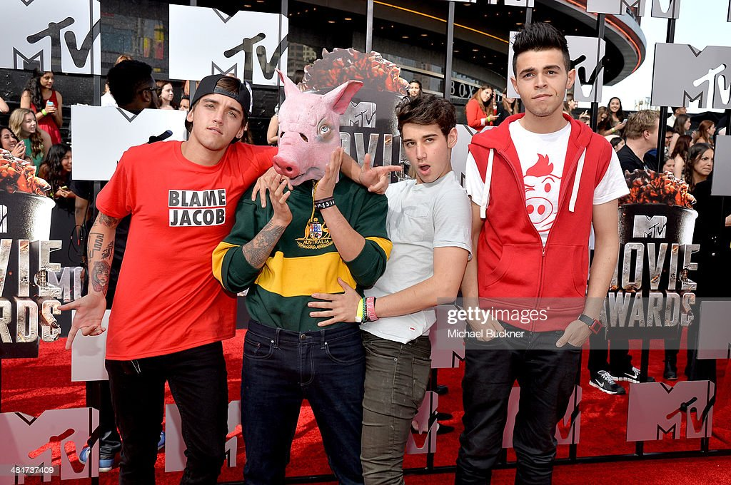 Internet personalities The Janoskians attends the 2014 MTV Movie Awards at Nokia Theatre L.A. Live on April 13, 2014 in Los Angeles, California.
