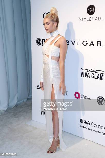 Internet Personality Amanda Steele attends the 25th Annual Elton John AIDS Foundation's Academy Awards Viewing Party at The City of West Hollywood...