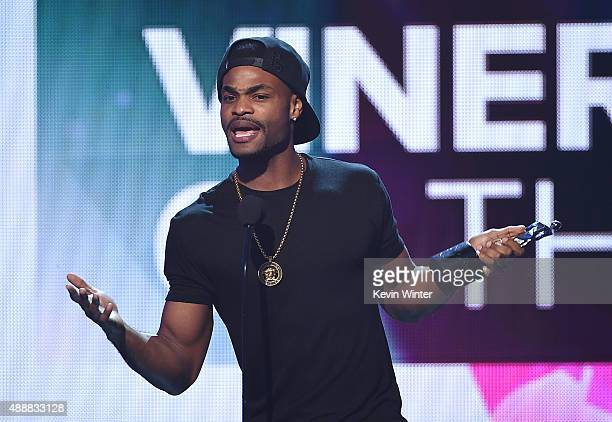 Internet personality Andrew B Bachelor aka King Bach accepts the award for Viner of the Year at VH1's 5th Annual Streamy Awards at the Hollywood...