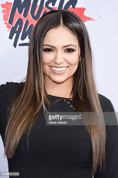 Internet personality Bethany Mota attends the iHeartRadio Music Awards at The Forum on April 3 2016 in Inglewood California