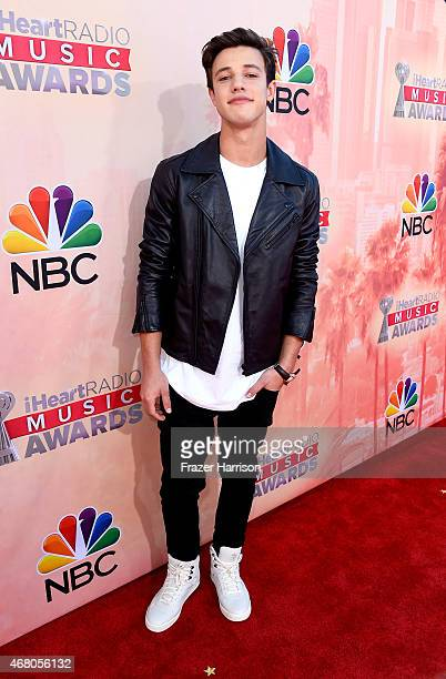 Internet personality Cameron Dallas attends the 2015 iHeartRadio Music Awards which broadcasted live on NBC from The Shrine Auditorium on March 29...