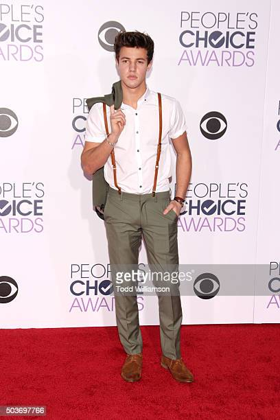 Internet personality Cameron Dallas attends the People's Choice Awards 2016 at Microsoft Theater on January 6 2016 in Los Angeles California