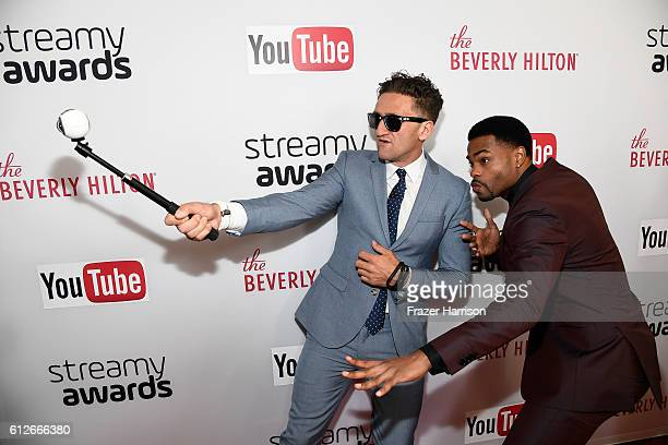 Internet personality Casey Neistat and host King Bach attend the 6th annual Streamy Awards hosted by King Bach and live streamed on YouTube at The...